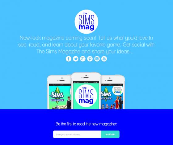 Новый выпуск официального журнала The Sims - скоро!