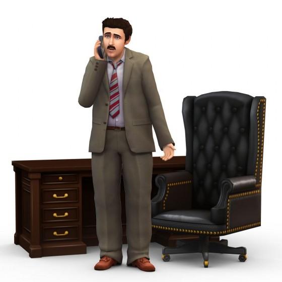 Рендер карьеры бизнесмена в The Sims 4