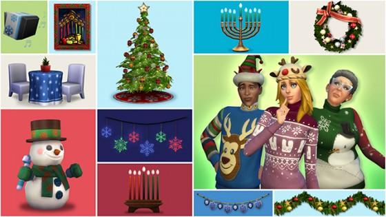 Бесплатный набор «Праздничный» для The Sims 4