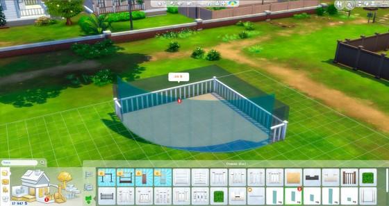 стеклянная закругленная стена the sims 4