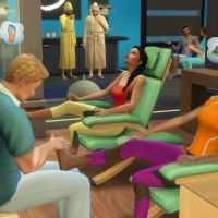 the sims 4 массаж