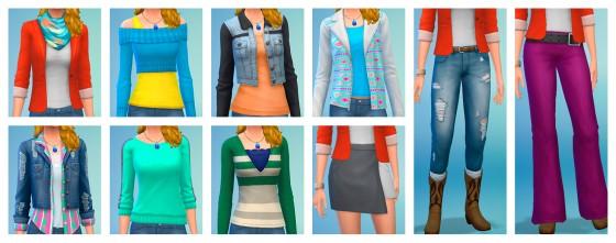 женская одежда из каталога the sims 4 классная кухня