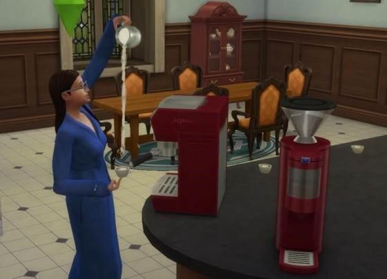 эспрессо машина из The Sims 4 «Веселимся вместе!»
