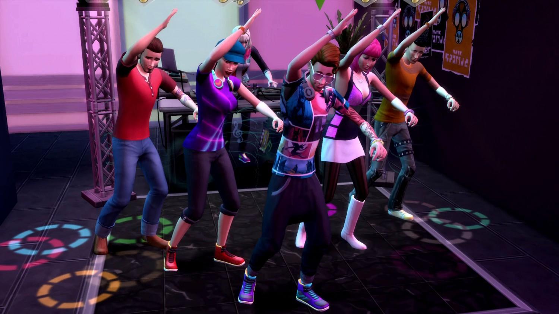Танцевальный навык в The Sims 4 Веселимся Вместе - групповой танец