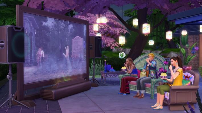 The Sims 4 Домашний кинотеатр скриншот
