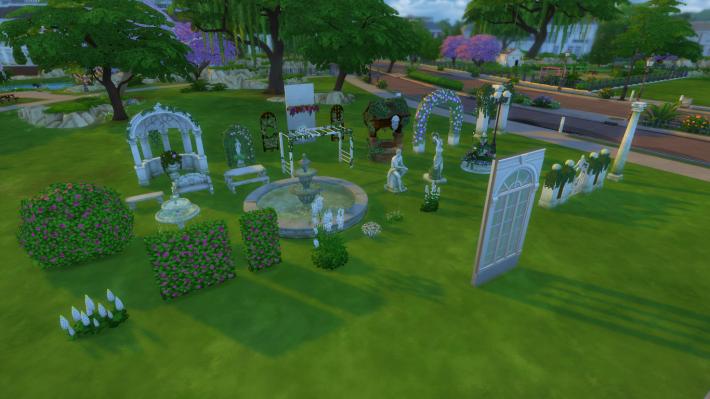 the sims 4 романтический сад новые предметы