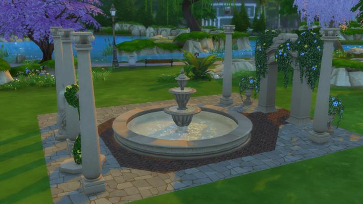 the sims 4 романтический сад стилизованный дворик 5
