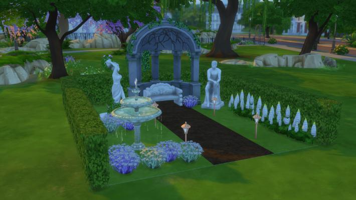 the sims 4 романтический сад стилизованный дворик 4