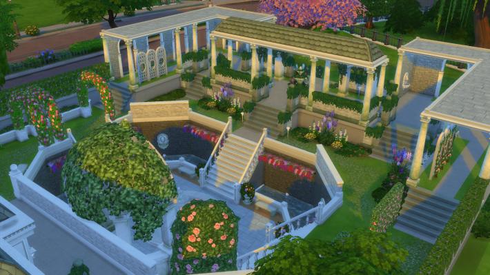 the sims 4 романтический сад заповедник