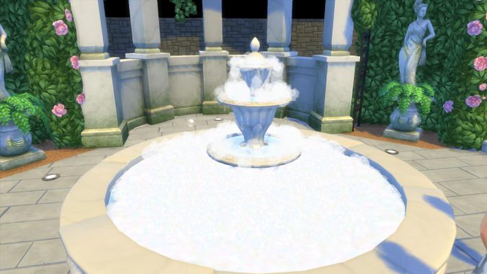 the sims 4 романтический сад мыльный фонтан
