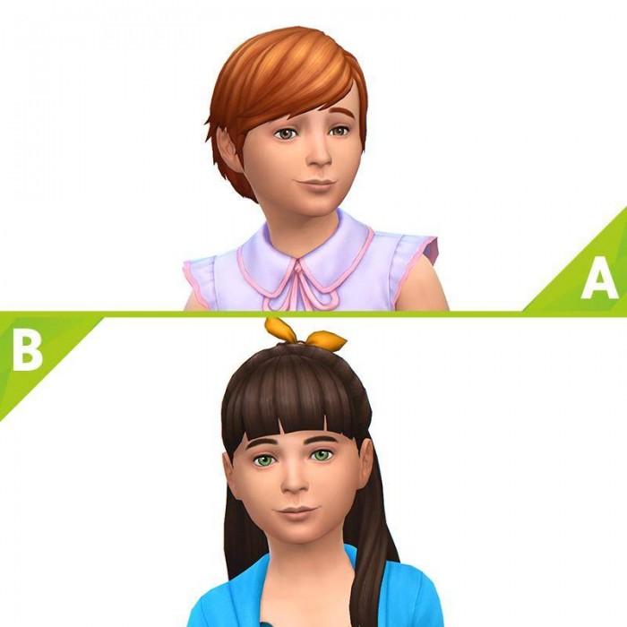The Sims 4 Романтический сад прически для детей