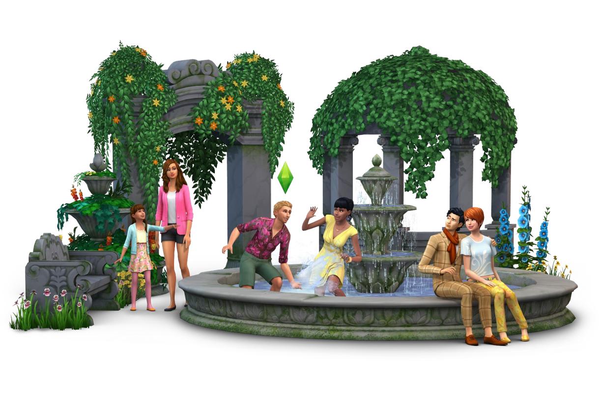 The sims 4 «романтический сад» — официальные участки и семьи.