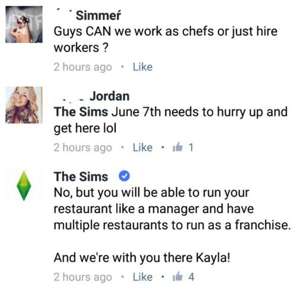 официальная страница игры о работе шеф-поваром