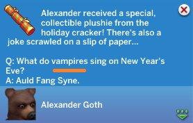 Упоминание вампиров в праздничной хлопушке