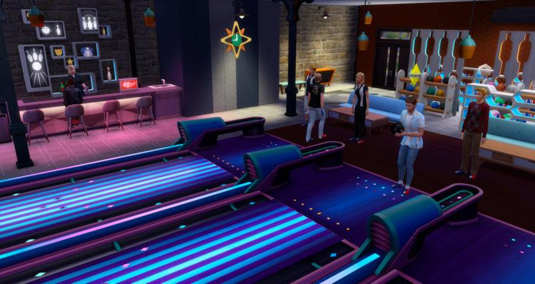 Боулинг-клуб внутри