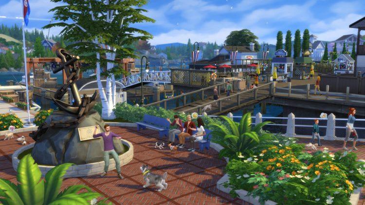 новый городок в the sims 4 коты и собаки