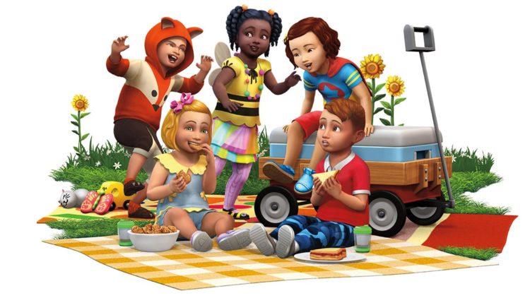 the sims 4 детские вещи рендер