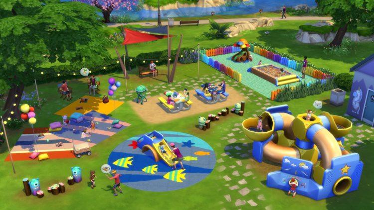 бассейн с шариками, горка, туннели для The Sims 4