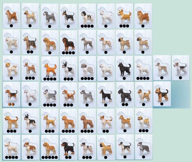 породы маленьких собак симс 4