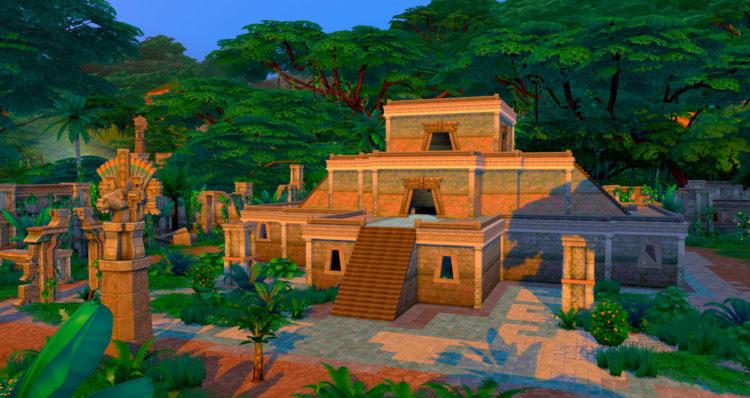храм в симс-4 приключения в джунглях
