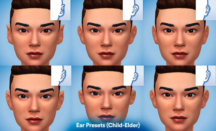 6 форм ушей мод