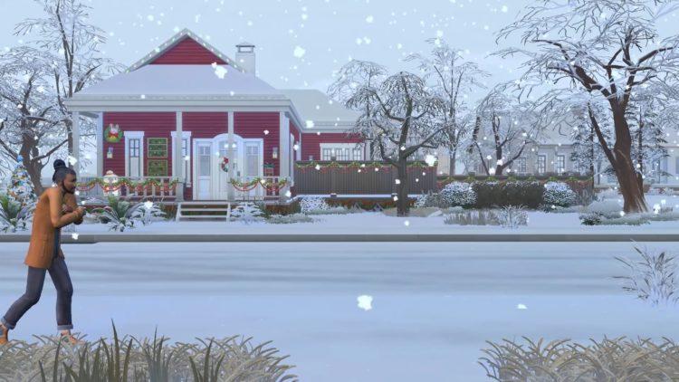 снег симс 4